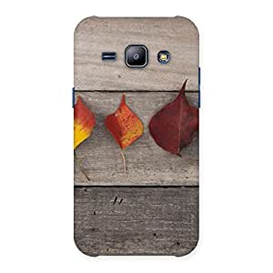 Delighted Leaves on Wood Back Case Cover for Galaxy J1