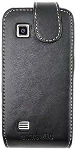 Samsung Executive - Funda de cuero para Samsung Tocco Icon, color negro