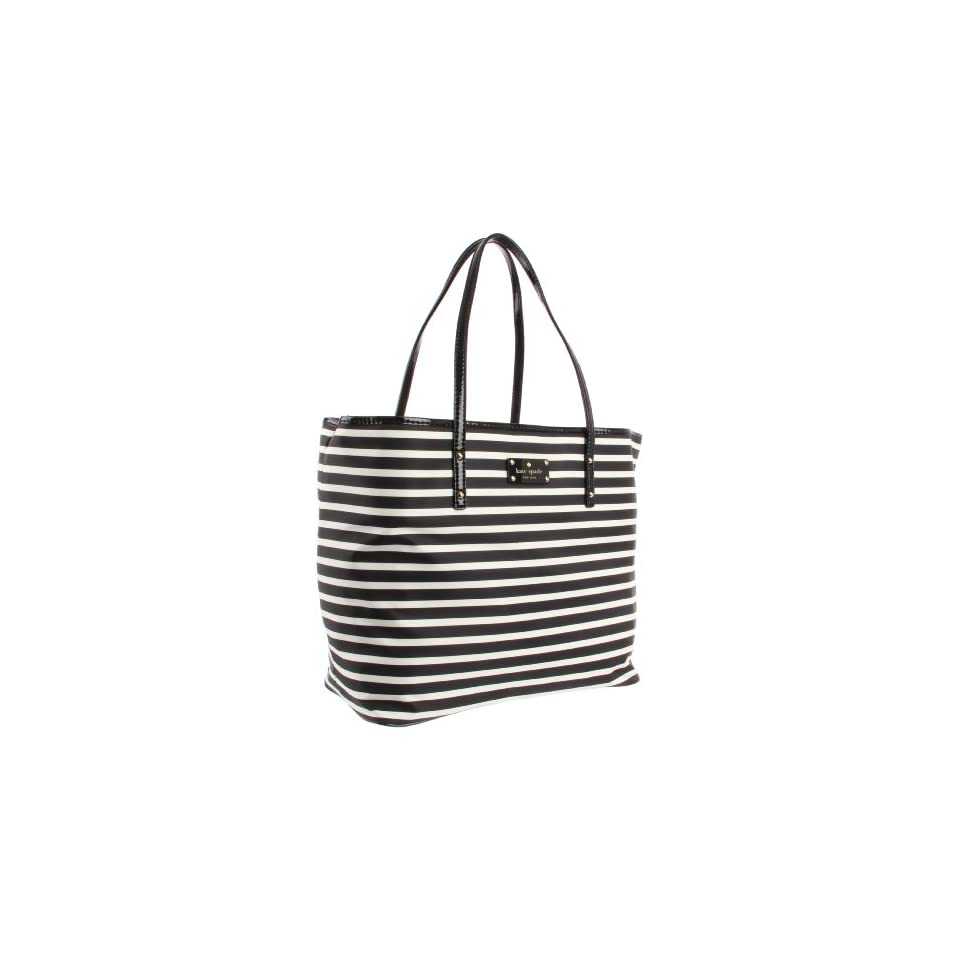 Kate Spade New York  Kate Spade Nylon Stripe Harmony PXRU3368 Baby Bag,Black/Cream,One Size
