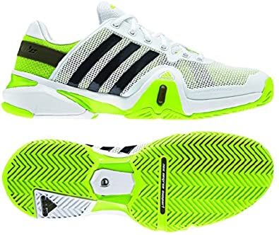 Buy Adidas Mens Adipower Barricade 8 Tennis Shoe-Running White Night Shade Solar Slime by adidas