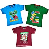 Pushpak Readymades Children's Cool T-Sirts (Pack of 3)
