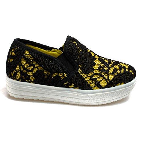 Colors of California Laceup6k-Bis bambina, tela, sneaker slip on, 39 EU