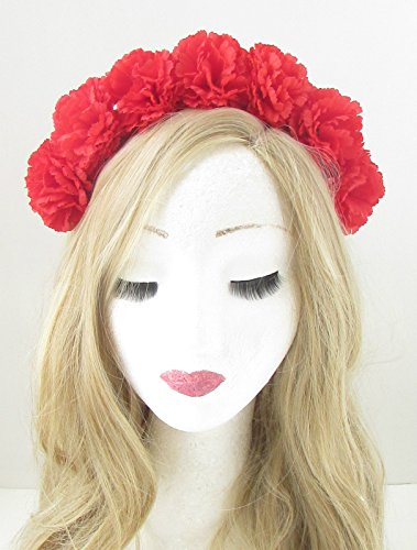 red-carnation-flower-headband-festival-boho-garland-hair-crown-hair-band-vtg-153-exclusively-sold-by