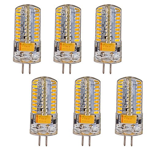 Mudder® 6Pcs Set G4 5W 72-Led Warm White Light Crystal Bulb Lamps Ac Dc 12-24V Non-Dimmable Equivalent To 40W Incandescent Bulb Replacement Led Bulbs