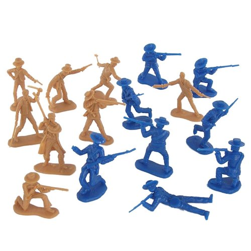 Buy Alamo Plastic Army Men Set: 37 piece Texas and Mexico 54mm Plastic Army Men Soldier Figures by BMC
