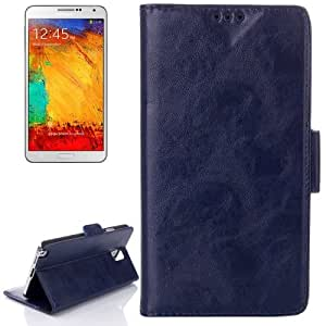 Oil Leather Case with Credit Card Slot & Holder for Samsung Galaxy Note III / N9000 (Blue)