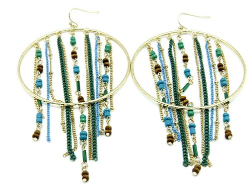 EARRING FISH HOOP METAL TURQUOISE Fashion Jewelry Costume Jewelry fashion accessory Beautiful Charms