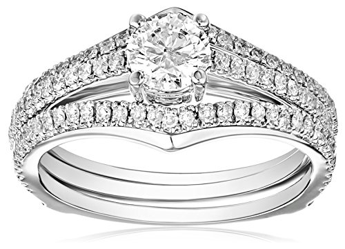 Kobelli-1-cttw-Round-Brilliant-Diamond-14k-White-Gold-Wedding-Ring-Set
