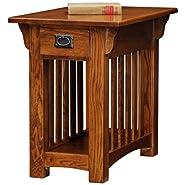 Mission Chairside - Medium Oak Finish