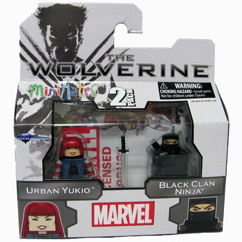 Marvel Minimates The Wolverine Series 52 Mini Figure 2-Pack Urban Yukio & Black Clan Ninja - 1