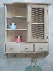 shabby chic wall cupboard bathroom kitchen cabinet