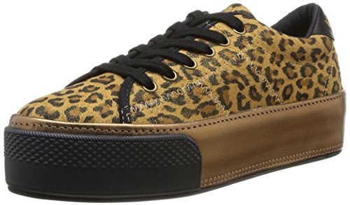 No Name  Midnight Sneaker Print Leopard,  Sneaker donna Marrone Marron (Golden Brown) 36