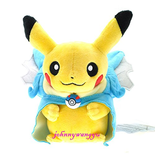 New Pokemon Pikachu With Charizard hat Plush Soft Toy Stuffed Animal Doll 9'' ()