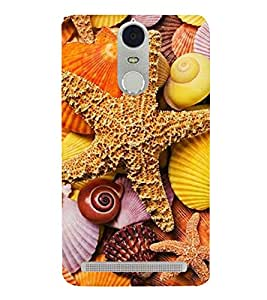 Star fish 3D Hard Polycarbonate Designer Back Case Cover for Lenovo K5 Note :: Lenovo Vibe K5 Note Pro