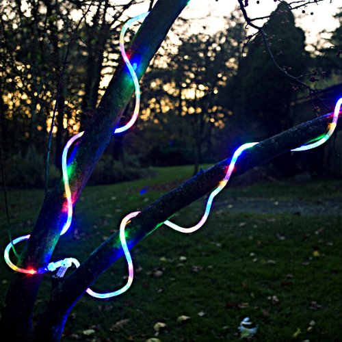 """36 Ft Heavy Duty Commercial Grade 1/2"""" Diameter Thick Rope Light (Four 9 Ft Linkable Sections) Indoor/Outdoor Energy Saving Color Changing Led, Only $3.99 Per 9 Ft. Section!"""