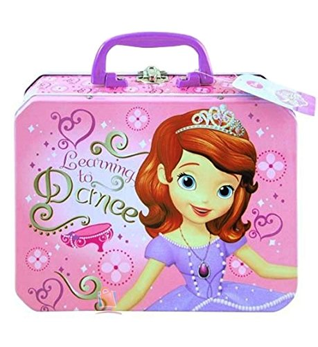 Disney Princess Sofia the First Metal Tin Lunch Box Storage Carrying Case - 1