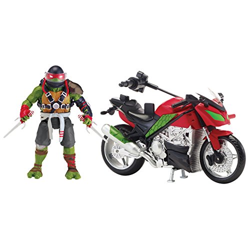 Teenage Mutant Ninja Turtles Movie 2 Out Of The Shadows Raphael With Motorcycle Vehicle With Figure (Ninja Turtle Toys Shredder compare prices)