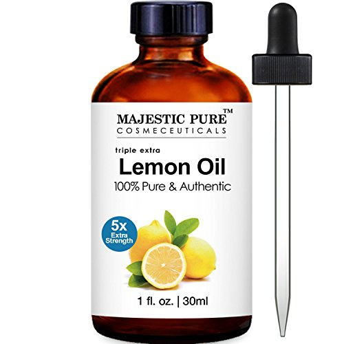 Majestic Pure Lemon Essential Oil, 100% Pure & Natural Therapeutic Grade 5x Extra Strength, 1 Fluid Ounce