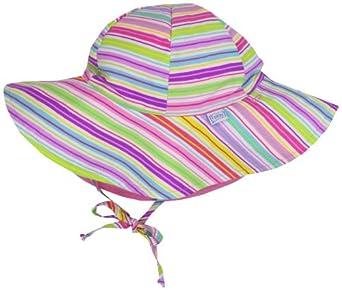 i play. Baby-girls Infant Brim Sun Protection Hat, Multi Stripe, Tod (2/4 yrs)