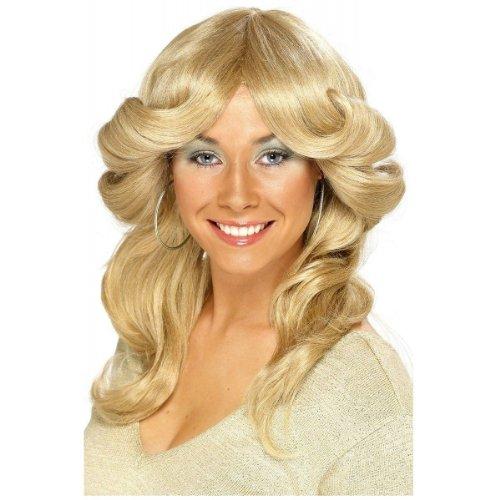 [Seventies Flick Wig Costume Accessory] (Farrah Fawcett Wig)