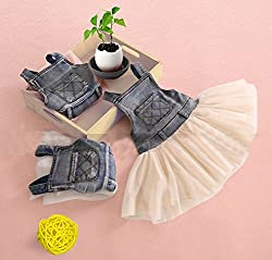 Kids Baby Girls Clothes One-piece Dress Summers Denim Tulle Overalls Age 6M-4Y by Angel's Wings