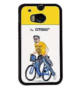 Printvisa 2D Printed Boy Designer back case cover for HTC One M8 - D4313