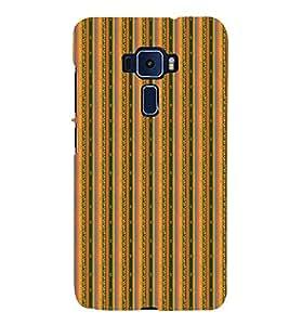Decorative Line Pattern 3D Hard Polycarbonate Designer Back Case Cover for Asus Zenfone 3 Deluxe ZS570KL