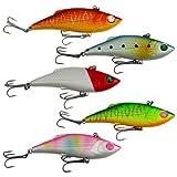 12.5g 7cm Lot 5pcs Fishing Lure VIB Vibe Vibration Rattle Hooks Baits Crankbait