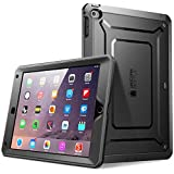 iPad Air 2 Hülle, SUPCASE® [Heavy Duty] Apple iPad Air 2 Schutzhülle [2. Generation] Modell 2014 [Unicorn Beetle PRO Series] Full-body Rugged Hybrid Protective Case Cover mit integriertem Bildschirmschütz, Schwarz/Schwarz - Dual Layer Design + Anti-Schock Schutzleisten (Schwarz/Schwarz)