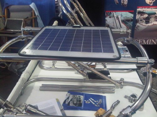 Boat RV Marine Solar Panel - Frameless, Unbreakable - Non Glass Construction. 12V Battery Charger 6 Watts. by Ganz eco-energy. (CPV-6). Eligible for FREE Shipping.