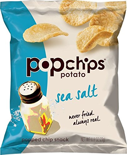 Popchips Potato Chips, Sea Salt, 0.8 Ounce (Sea Salt Popchips compare prices)