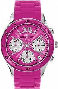 Jacques Lemans Sports Herren-Armbanduhr XL Rome Sports Chronograph Silikon 1-1586I