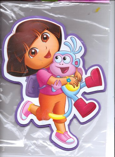 3D Dora the Explorer Foam Wall Decoration ~ Dora & Boots - 1