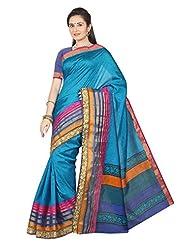 Kuberan Silks Women's Daily Wear Saree (Sky Blue)