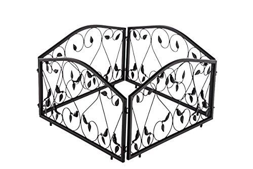 clp-set-da-4-pezzi-per-recinzione-di-aiuole-bennet-in-ferro-massiccio-larghezza-4-x-57-cm-228-cm-alt