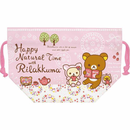 San-x Bear Rilakkuma Bendo Box Lunch Bag - Happy Nature Time with Rilakkuma - 1
