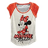 Disney Juniors Minnie Mouse Baseball Tee White/Red