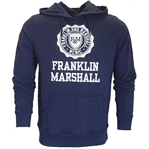 Franklin & Marshall -  Felpa con cappuccio  - Uomo blu navy XX-Large