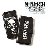 (ゼファレン)ZEPHYREN FLIP iPhone CASE -SKULL HEAD- z16ux13 BLACK ONE(iPhone6)