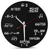Decodyne Math Clock - Unique Wall Clock - Each Hour Marked By a Simple Math Equation