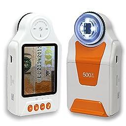 Indigi Digital Handheld Magnifier Microscope 500x ZOOM Camera & Camcorder Mode - Explore micro world anywhere