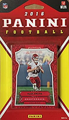 Kansas City Chiefs 2016 Panini Factory Sealed Team Set with Alex Smith, Jamaal Charles, Rookie cards of Demarcus Robinson and Kevin Hogan plus