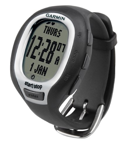 Garmin FR60 Women's Black Fitness Watch Bundle (Includes Foot Pod, Heart Rate Monitor, and USB ANT Stick)