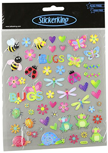 Multi-Colored Stickers-Bugs In Color