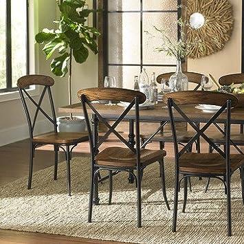 Homelegance Millwood 5 Piece Dining Room Set w/ Metal Frame