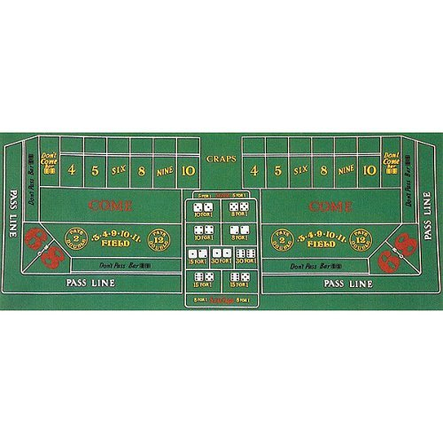 Find Cheap Trademark Poker Craps Layout 36-Inch x 72-Inch