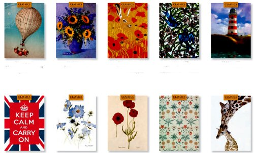 20 FINE ART MUSEUM CARDS-WITH 25 ENVELOPES-LUXURY