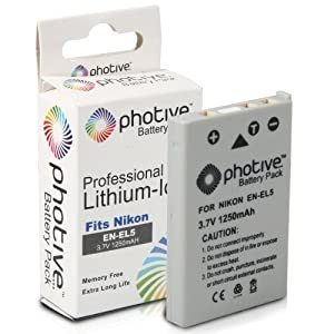 Photive Original EN-EL5 Ultra High Capacity Li-ion Battery- Nikon EN-EL5 Replacement