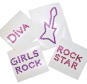 Rock Star Diva Jewel Temporary Tattoos (1 dz)