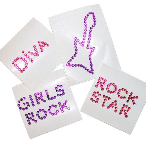 Rock Star Diva Jewel Temporary Tattoos (1 dz)